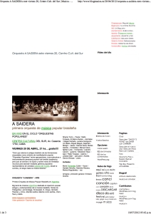 A SAIDERA, Centro Cult. del Sur _ Musica - Musical blog on line