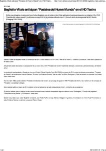 Baglietto-Vitale anticipan _Postales del Nuevo Mundo_ en el ND Teatro - Télam - Agencia Nacional de Noticias