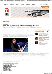 Baglietto Vitale -Clásicos y Acústicos - 300 Producciones
