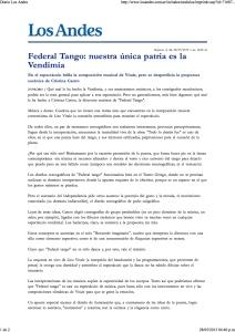 Federal tango -Diario Los Andes